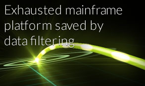 Exhausted mainframe platform saved by data filtering